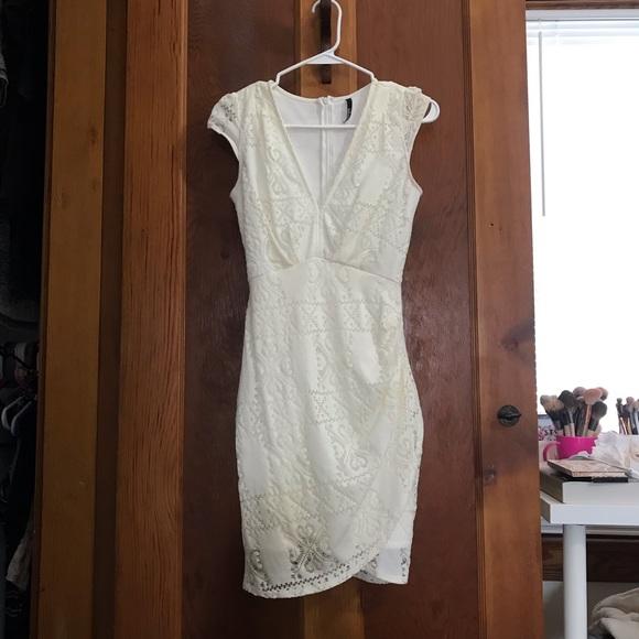 Lulu's Dresses & Skirts - Lulus White lace rustic bridal dress